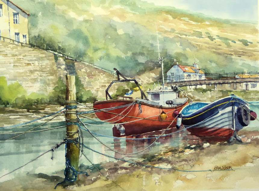 mooring post staithes muker